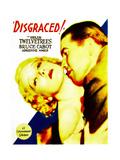 DISGRACED!  Helen Twelvetrees  Bruce Cabot on midget window card  1933