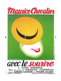 WITH A SMILE  (aka AVEC LE SOURIRE)  French poster art  Maurice Checalier  1936