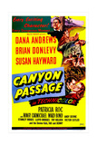 CANYON PASSAGE  US poster  bottom right from left: Dana Andrews  Susan Hayward  1946