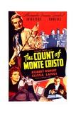 THE COUNT OF MONTE CRISTO  US poster  top left: Robert Donat  bottom left: Elissa Landi  1934