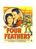 FOUR FEATHERS  from left: Fay Wray  Richard Arlen on window card  1929