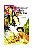 THE END OF THE RIVER  British poster  from top: Bibi Ferreira  Sabu  1947