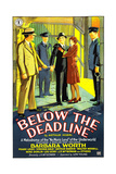 BELOW THE DEADLINE  US poster art  1929
