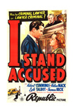 I STAND ACCUSED  US poster art  foreground from left: Bob Cummings  Helen Mack  1938