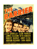 THE BARRIER  far left: Jean Parker  Leo Carillo (center) on midget window card  1937