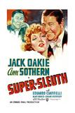 SUPER-SLEUTH  US poster art  from left: Jack Oakie  Ann Sothern  Jack Oakie  1937