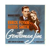GENTLEMAN JIM  from left: Errol Flynn  Alexis Smith on window card  1942