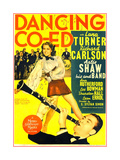 DANCING CO-ED  US poster art  top: Lana Turner  Buddy Rich on drums; bottom: Artie Shaw  1939