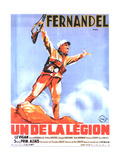 UN DE LA LEGION  French poster art  Fernandel  1936
