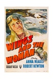 WINGS AND THE WOMAN (aka THEY FLEW ALONE)  top left: Anna Neagle  1942