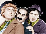 From left: Harpo Marx  Groucho Marx  Chico Marx  (the Marx Brothers)  MGM portrait  ca 1940