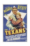 THE TEXANS  Randolph Scott  Joan Bennett  1938
