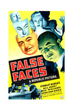 FALSE FACES  US poster  from top: Veda Ann Borg  Stanley Ridges  1943