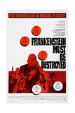 FRANKENSTEIN MUST BE DESTROYED  bottom left: Freddie Jones  bottom right: Peter Cushing  1969