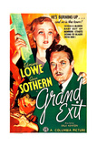 GRAND EXIT  US poster art  from top: Ann Sothern  Edmund Lowe  1935