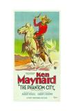 THE PHANTOM CITY  atop horse: Ken Maynard; 3-Sheet poster  1928