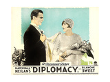 DIPLOMACY  right: Blanche Sweet on lobbycard  1926