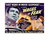 THE WAGES OF FEAR  from left: Yves Montand  Vera Clouzot on poster art  1955