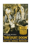 JUNGLE MYSTERIES  center: Tom Tyler  far right: Cecilia Parker in 'Chapter 6: Daylight Doom'  1932