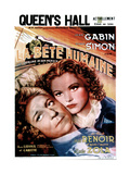 LA BETE HUMAINE  French poster  from left: Jean Gabin  Simone Simon  1938
