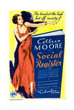 SOCIAL REGISTER  Colleen Moore on midget window card  1934