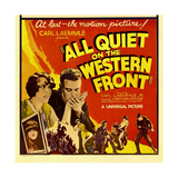 ALL QUIET ON THE WESTERN FRONT  bottom left: Lew Ayres on window card  1930