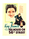 THE HOUSE ON 56TH STREET  left: Kay Francis  right: Kay Francis  on midget window card  1933