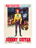 JOHNNY GUITAR  Joan Crawford on Italian poster art  1954