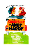 THE COURTSHIP OF ANDY HARDY  US poster  from left: Mickey Rooney  Donna Reed  1942