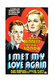 I MET MY LOVE AGAIN  US poster art  from left: Henry Fonda  Joan Bennett  1938
