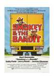 SMOKEY AND THE BANDIT  Burt Reynolds (top)  Jackie Gleason  1977