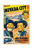 NEVADA CITY  from left: George 'Gabby' Hayes  Roy Rogers  Sally Payne  1941