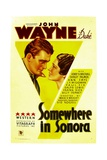 SOMEWHERE IN SONORA  from left: John Wayne  Shirley Palmer  1933