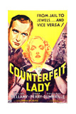 COUNTERFEIT LADY  US poster art  from left: Ralph Bellamy  Joan Perry  1936
