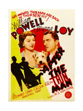 AFTER THE THIN MAN  from left: Myrna Loy  Asta  William Powell on midget window card  1936