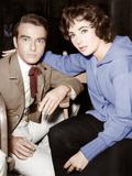 Raintree County  Montgomery Clift  Elizabeth Taylor  on set  1957