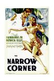 THE NARROW CORNER  from left: Douglas Fairbanks Jr  Patricia Ellis on midget window card  1933