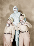 ABBOTT AND COSTELLO MEET THE MUMMY  from left: Bud Abbott  Eddie Parker  Lou Costello  1955