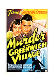 MURDER IN GREENWICH VILLAGE  US poster  from left: Fay Wray  Richard Arlen on poster art  1937