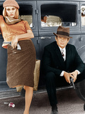 BONNIE AND CLYDE  from left: Faye Dunaway  Warren Beatty  1967
