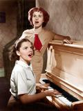 EVERY SUNDAY  front to back: Judy Garland  Deanna Durbin  1936
