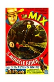 THE MIRACLE RIDER  top left and bottom center: Tom Mix in 'Chapter 3: The Flying Knife'  1935