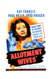 ALLOTMENT WIVES  US poster  Kay Francis  Otto Kruger (left)  1945