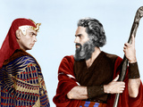 THE TEN COMMANDMENTS  from left: Yul Brynner  Charlton Heston  1956
