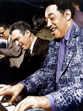 ANATOMY OF A MURDER  from left: James Stewart  Duke Ellington  on set  1959