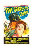 FIVE GRAVES TO CAIRO  Erich von Stroheim  Anne Baxter  1943