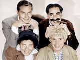 Top  from left: Zeppo Marx  Groucho Marx; bottom: Chico Maarx  Harpo Marx (the Marx Brothers)
