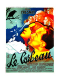 THE RAVEN  (aka LE CORBEAU)   French poster  center: Micheline Francey  Pierre Fresnay  1943
