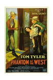THE PHANTOM OF THE WEST  left: Tom Tyler in 'Chapter 9: The Fatal Secret'  1931