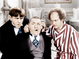 The Three Stooges  from left: Moe Howard  Curly Howard  Larry Fine  ca 1940s